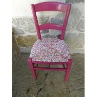 chaise paille tissu portfolio