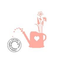 Grille gratuite - Arrosoir fleuri