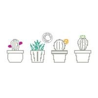 Grille de point de croix - Cactus