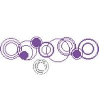 Grille gratuite - Frise de cercles