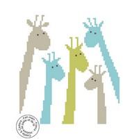 Grille gratuite - Girafes