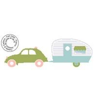 Grille gratuite - 2CV et sa caravane