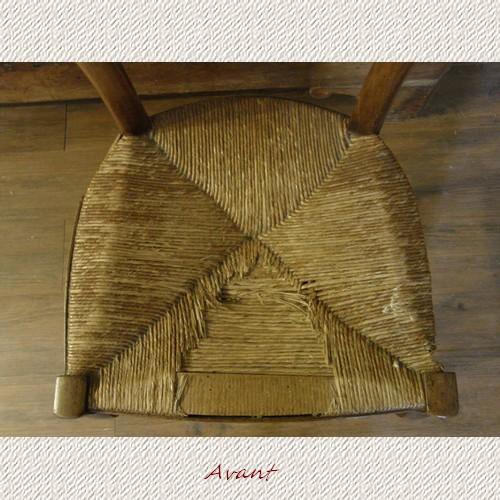 Technique rempaillage paille paille tissu - Prix pour rempailler une chaise ...